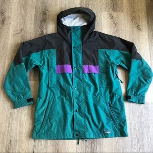 Vtg LL Bean Sunbuster Windbreaker Green Purple szL